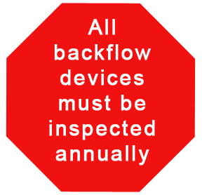annual inspection of backflow devices